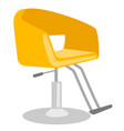 barber chair cartoon vector image vector image