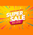 big sales special offer banner template design vector image