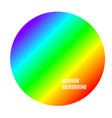 bright color rainbow background circle abstract vector image