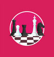 business strategy with chess figures on a chess vector image vector image