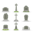 cartoon gravestones and tombs vector image