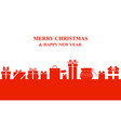 christmas greeting banner with gifts vector image vector image
