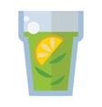 Cup of fresh hot green tea vector image vector image