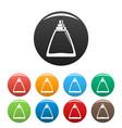 deodorant bottle icons set color vector image