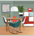 dining room furniture vector image vector image