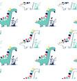 dinosaur seamless pattern print design vector image vector image