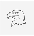 Eagle head mascot line icon vector image vector image