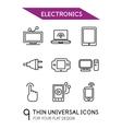 Electronics thin line icon set vector image