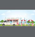 fast food street truck concept vector image
