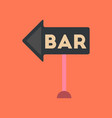 flat icon on background poker bar sign vector image vector image