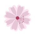 flower japanese isolated icon vector image