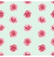 Flower seamless pattern with roses vector image vector image