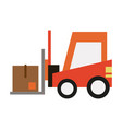 forklift with box icon image vector image vector image