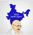 gandhi jayanti background vector image
