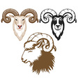 Goat set vector image vector image