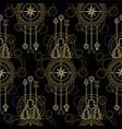 gold compass seamless pattern