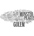 golem word cloud concept vector image