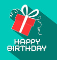 Happy Birthday Retro with Gift Box vector image