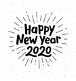 happy new year 2020 typography vector image vector image