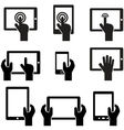 Icon set tablets and gadgets with touch screen vector image vector image