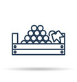 isolated icon of picking grapes in the basket vector image vector image