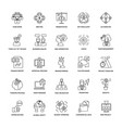 line icons project management vector image vector image