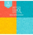 Line SEO Development Patterns vector image