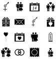 love icon set vector image