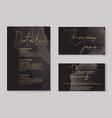 luxury dark chocolate wedding invitation cards vector image vector image