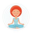 meditation design concept vector image vector image