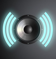musical speaker vector image vector image