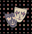 new pattern 0221 theatrical mask vector image vector image