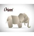 Origami design vector image vector image