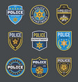 police labels policeman law enforcement badges vector image vector image