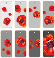 poppies price tags vector image