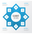 project icons set collection of present badge vector image vector image