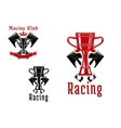 Racing sport club or competition icon design vector image