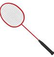 Red badminton racket vector image vector image