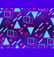 retro futurism seamless pattern geometric vector image