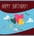 retro vintage happy birthday card with gifts vector image vector image