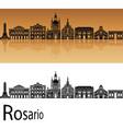 rosario skyline vector image vector image