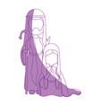 saint joseph and virgin mary vector image vector image