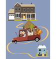 seniors moving to a new home vector image