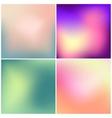 set 4 blurred backgrounds vector image vector image