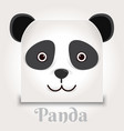 simple sign a panda - design template on black vector image vector image