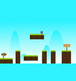 sky nature game background style vector image vector image