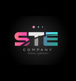 ste s t e three letter logo icon design vector image vector image