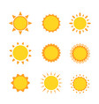sun icon sign set collection flat symbol vector image vector image