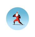 Superhero Santa Claus action vector image vector image