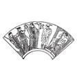 vase painting is an ornamental greek vase vintage vector image